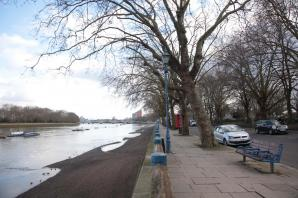 Risk of flooding at Putney Embankment throughout August